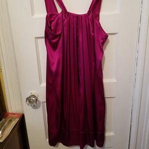 New Banana Republic Sz M Fuscia Silk Dress!